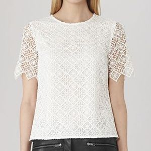 Reiss Inna Lace Top